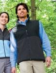 Tri-Mountain 7440 Surveyor-Mens Panda Fleece Vest With Nylon Paneling.