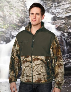 Tri-Mountain 7450C Frontiersman Camo-Men's 100% Spun Polyester Anti Pilling Fleece Jacket,