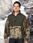 Tri-Mountain 7450C FRONTIERSMAN CAMO - Men's 100% Spun polyester Anti Pilling Fleece Jacket,