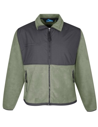 Tri-Mountain 7450 Frontiersman-Men's Panda Fleece Jacket With Nylon Paneling.