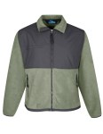 Tri-Mountain 7450 Frontiersman - Men's panda fleece jacket with nylon paneling