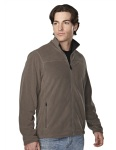 Tri-Mountain 7825 Blaine - Men's 100% polyester brushed back fleece jacket