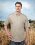 Tri-Mountain 785 Freebore-Men's Cotton/Poly 60/40 Ss Woven Shooting Shirt,