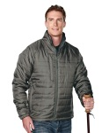 Tri-Mountain 8255 Brooklyn-Men's 100% Polyester Rib- Stop Long Sleeve Quilt Jacket With Water Resistent