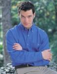 Tri-Mountain 829 Pioneer-Men's Denim Long Sleeve Shirt.
