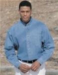 Tri-Mountain 830 Trekker-Heavyweight Denim Long Sleeve Shirt.