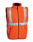 Tri-Mountain 8330 Perimeter-100% Polyester Anti-Pilling Safety Fleece Vest. Ansi Class 2/Level 2.