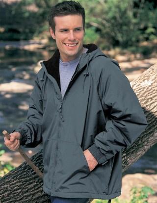 Tri-Mountain 8480 Conqueror-Men's Nylon Hooded Jacket With Fleece Lining.