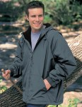 Tri-Mountain 8480 Conqueror-Men's Nylon Hooded Jacket With Fleece Lining.