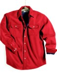 Tri-Mountain 869 Tahoe-Denim Shirt Jacket With Fleece Lining.