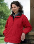 Tri-Mountain 8820 Adventure - Women's nylon jacket with fleece lining