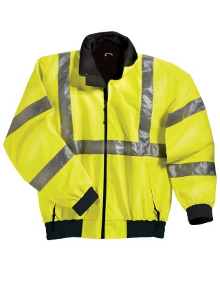 Tri-Mountain 8830 District-Poly Ansi Compliant Safety Jacket With Reflective Tape.