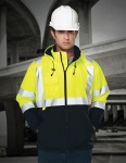 Tri-Mountain 8831 Beacon-Men's 100% Polyester Water-Resistant Fleece-Lined Safety Jacket.