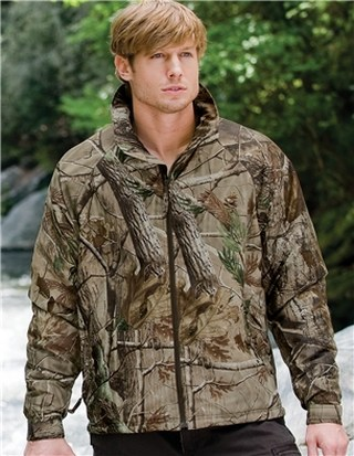 Tri-Mountain 8886C Mountaineer Camo-Windproof/Water Resistant 3-Season Jacket With Realtree Ap® Pattern.