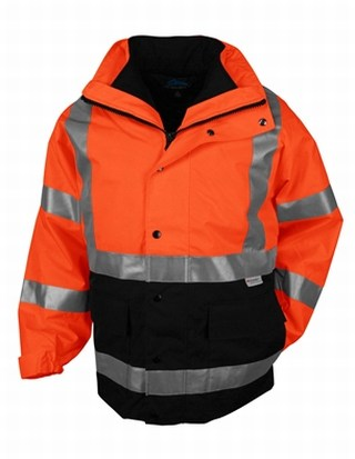 Tri-Mountain 8980 Industry-3-In-1 System Waterproof Safety Parka. Ansi Class 3.