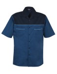Tri-Mountain 905 Circuit-Tmr Cotton Peached Twill Shirt With Reflective Trim.
