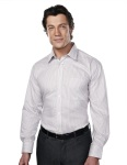 Tri-Mountain 975 Glenwood-Mens 100% Cotton Wrinkle Free Yarn Dye Stripe Woven Shirt,