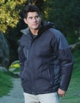 Tri-Mountain 9800 Avalanche-Men's 100% Nylon Water Resistant Full Lined & Quilted w/ Removable Hood Woven Jacket.