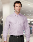 Tri-Mountain 985 Bridgeway-Mens 100% Cotton Wrinkle Free Piece Dyed Mini Herringbone Woven Shirt.