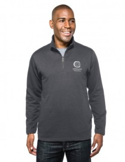 Tri-Mountain F581 Alta-Men's 8.6 Oz 60% Cotton/40% Polyester 1/4-Zip Pullover Sweatshirt.
