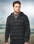 Tri-Mountain F678 Zuma-60% Cotton 40% Polyester Men's Full Zip Hooded Jacket With All Over Tonal Print,