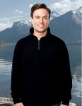 Tri-Mountain F681 Viewpoint-Men's Suede Finish 1/4 Zip Knit Pullover