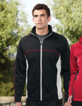 Tri-Mountain F7356 Westwood - Men's 100% Polyester Full Zip Knit Fleece w/raglan sleeves,