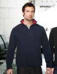 Tri-Mountain F7840 Sarbonne-Men's 100% Polyester Knit Bonded Contrast Micro Fleece
