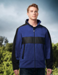 Tri-Mountain F7885 Arroyo - Men's 100% poly fleece/mesh bonded jacket