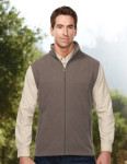 Tri-Mountain F8358 Expedition-Men's Polar Fleece Vest w/ Slash Zipper Pockets