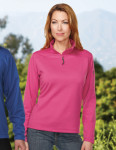 Tri-Mountain FL7636 Renata-Women's 100% Polyester 1/4 Pullover Solid Reverse Plaid Fleece
