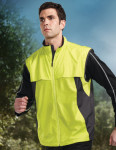 Tri-Mountain J1100 Athlos - Men's 100% Polyester, 600 mm WR Vest w/#5 reverse nylon full zip front placket,