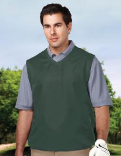 Tri-Mountain J2612 Legend-Men's 100% Polyester Micro w/R V-Neck Vest With 2 Zip Slash Pockets & Elastic Bottom.