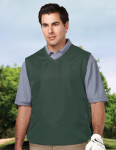 Tri-Mountain J2612 Legend-Men's 100% Polyester Micro w/R V-Neck Vest With 2 Zip Slash Pockets & Elastic Bottom.