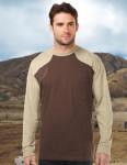 Tri-Mountain K086LS Woodruff Long Sleeve-Men's Ls Shooter Tee w/Contrast Quilted Patch
