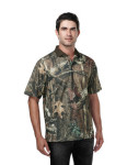 Tri-Mountain K122CG Momentum Camo Polo-Men's Polyeater Real Tree Print Short Sleeve Shirt