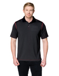 Tri-Mountain K173 Cf-3-Moisture-Wicking 5 Oz. 100% Polyester Polo Featuring Our Exclusive Carbon Fiber Pattern.