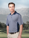 Tri-Mountain K340 Accolade-Men's 100% Polyester Knit S/S Golf Shirt