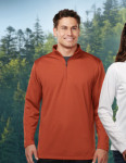 Tri-Mountain K628 Clementon-Men's 100% Polyester 1/4 Zip Pullover w/Tmp Puller