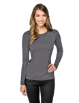 Tri-Mountain LB008 Colette-Women's Crew Neck Top Ruching Along Top Sleeve