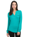 Tri-Mountain LB079 Alexandra-Split Neck Top