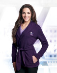 Tri-Mountain LB673 Bethany-Women's 57% Ctn/38% Poly/5% Spandex Knit Robe Jacket With Faux Belt
