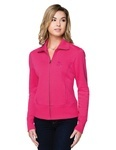 Tri-Mountain LB674 Anna-Women's 10 Oz. 60% Cotton/40% Polyester Fleece Full-Zip Jacket.