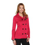Tri-Mountain LB677 Riley-Women's 10.4 Oz 60% Cotton/40% Polyester Fleece Peacoat.
