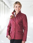 Tri-Mountain LB8223 Bridget - Women's 95% Polyester 5% Nylon Woven Poly-filled Quilted Sleeveless W/RJacket