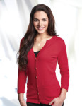Tri-Mountain LB929 Isabella-Women's 3/4 Sleeve Sweater Cardigan.