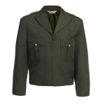 Tactsquad 10516 Zippered Front Ike Jacket - Serge Weave