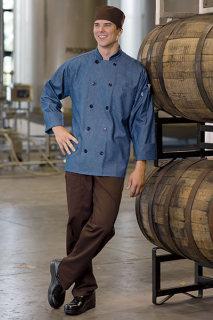 Uncommon Theards 0405C Aspen Chambray Chef Coat
