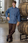 Uncommon Threads 0405C Aspen Chambray Chef Coat