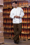 Uncommon Theards 0427 Classic Knot With Mesh Chef Coat